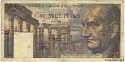 5000 Francs TUNISIE  1952 P.30 TB