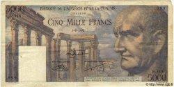5000 Francs TUNISIE  1952 P.30 pr.TTB