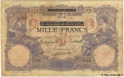 1000 Francs TUNISIE  1892 P.31 B+ à TB
