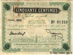 50 Centimes TUNISIE  1918 P.32c TTB