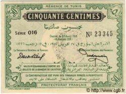 50 Centimes TUNISIE  1918 P.35 SPL