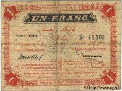 1 Franc TUNISIE  1918 P.36c B+ à TB