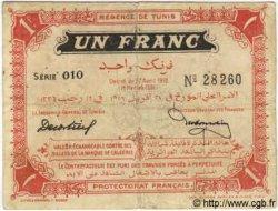 1 Franc TUNISIE  1918 P.36e TB