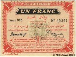 1 Franc TUNISIE  1918 P.36e NEUF