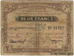 2 Francs TUNISIE  1918 P.37c B+