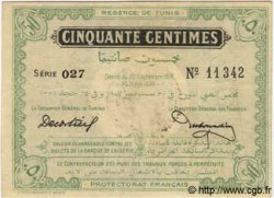 50 Centimes TUNISIE  1918 P.39