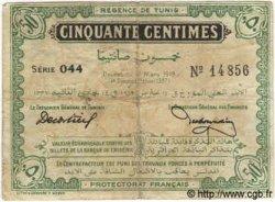 50 Centimes TUNISIE  1919 P.45a TB