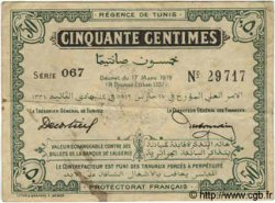 50 Centimes TUNISIE  1919 P.45b TB+