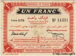 1 Franc TUNISIE  1919 P.46b