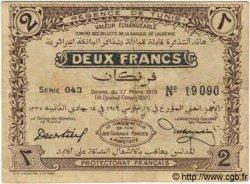 2 Francs TUNISIE  1919 P.47a TB à TTB