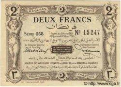 2 Francs TUNISIE  1920 P.50 pr.NEUF