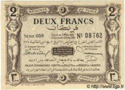 2 Francs TUNISIE  1920 P.50 SPL