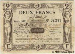 2 Francs TUNISIE  1920 P.50 TTB