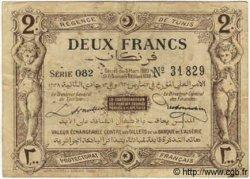 2 Francs TUNISIE  1920 P.50 TB+