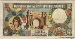 5 Dinars TUNISIE  1965 P.64 TB+
