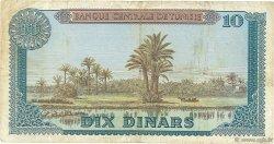 10 Dinars TUNISIE  1969 P.65 TB+