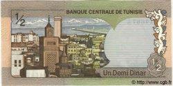 1/2 Dinar TUNISIE  1972 P.66 NEUF