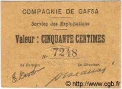 50 Centimes TUNISIE  1916 P.-- NEUF