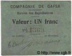 1 Franc TUNISIE  1916 P.-- pr.NEUF