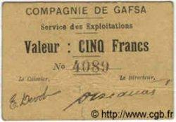 5 Francs TUNISIE  1916 P.-- TTB
