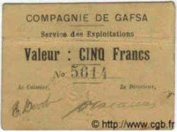 5 Francs TUNISIE  1915 P.-- TTB