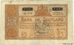 5 Pounds ÉCOSSE  1916 P.082c TTB