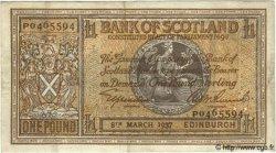 1 Pound ÉCOSSE  1937 P.091a TTB