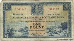 1 Pound ÉCOSSE  1952 P.191a TB