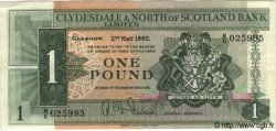 1 Pound ÉCOSSE  1962 P.195 SUP