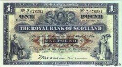 1 Pound ÉCOSSE  1947 P.322b NEUF