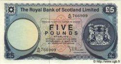 5 Pounds ÉCOSSE  1976 P.337 SPL