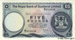 5 Pounds ÉCOSSE  1981 P.337 NEUF