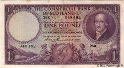 1 Pound ÉCOSSE  1951 PS.332 SUP