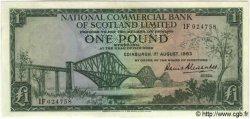 1 Pound ÉCOSSE  1963 PS.595 SPL