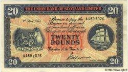 20 Pounds ÉCOSSE  1953 PS.818 TTB+