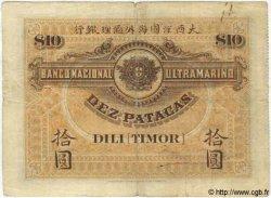 10 Patacas TIMOR  1910 P.03 pr.TB