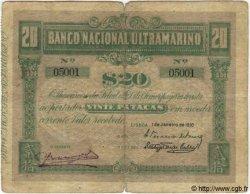20 Patacas TIMOR  1910 P.04 B