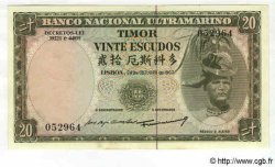 20 Escudos TIMOR  1967 P.26 pr.NEUF