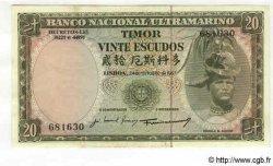 20 Escudos TIMOR  1967 P.26 SUP+