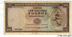 100 Escudos TIMOR  1963 P.28a TB
