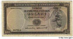 500 Escudos TIMOR  1963 P.29 pr.TB