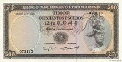 500 Escudos TIMOR  1963 P.29 TTB+
