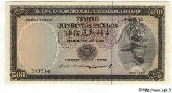 500 Escudos TIMOR  1963 P.29 NEUF