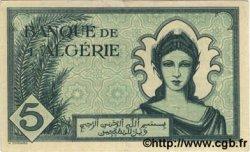 5 Francs ALGÉRIE  1942 P.091 SUP