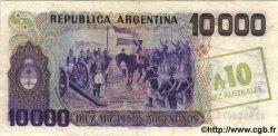 10 Australes sur 10000 Pesos Argentinos ARGENTINE  1985 P.322b NEUF