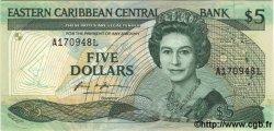 5 Dollars CARAÏBES  1986 P.18e NEUF