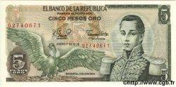 5 Pesos Oro COLOMBIE  1980 P.406f NEUF
