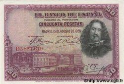 50 Pesetas ESPAGNE  1928 P.075b SPL