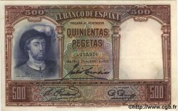 500 Pesetas ESPAGNE  1931 P.084 SUP