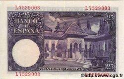 25 Pesetas ESPAGNE  1954 P.147a